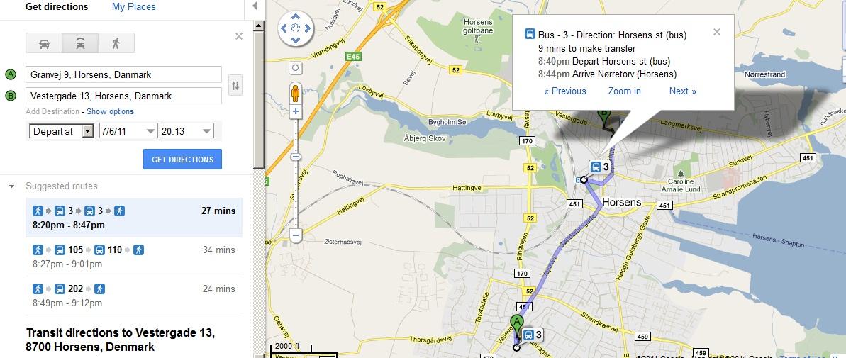 maps dk