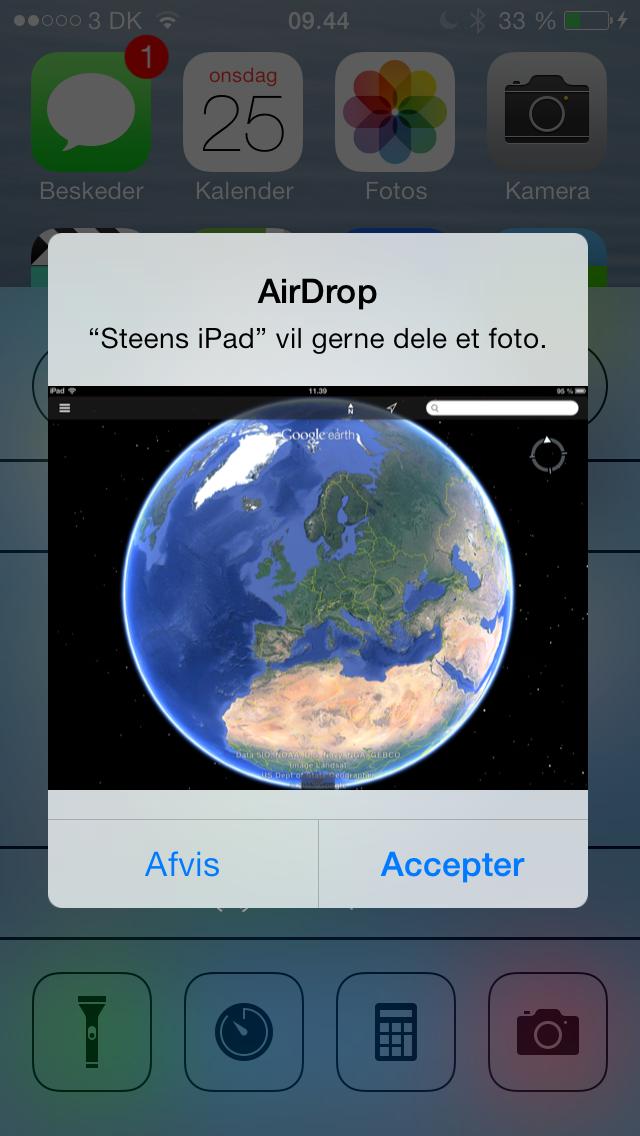 airdrop modtag fil