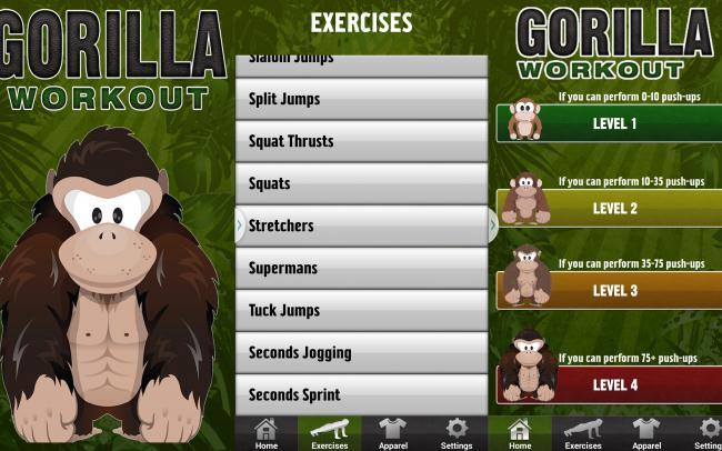 workout app Gorilla workout
