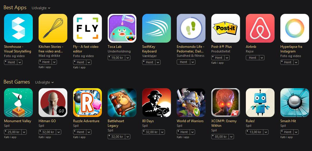 Danske apps