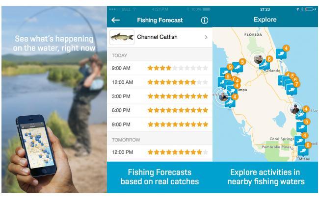 Fishbrain nu med fangstprognose for Fish brain app