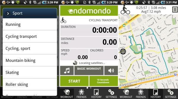 endomondo app til træning