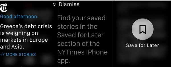 new york times apple watch