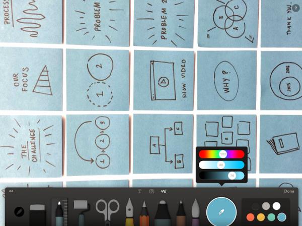 paper ipad pro tegne app pencil