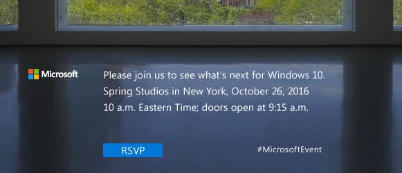 microsoft event 26. oktober tid
