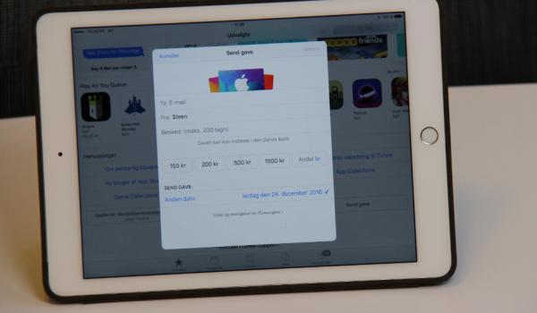 hvordan giver man gavekort til app store