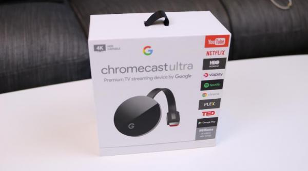 chromecast ultra pris