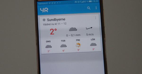 bedste vejr app YR
