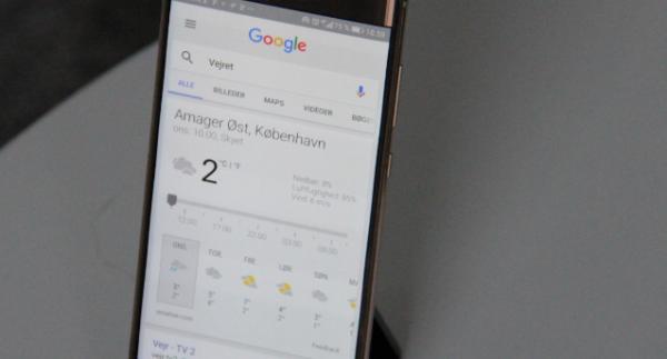 bedste vejr app google now