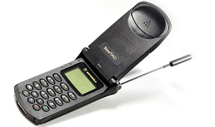 Motorola StarTac blev verdens første klap-telefon.